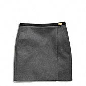 Coach :: DOUBLE FACE WOOL SLOUCHY WRAP SKIRT