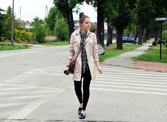jestem kasia bag coat shirt shoes pants sunglasses