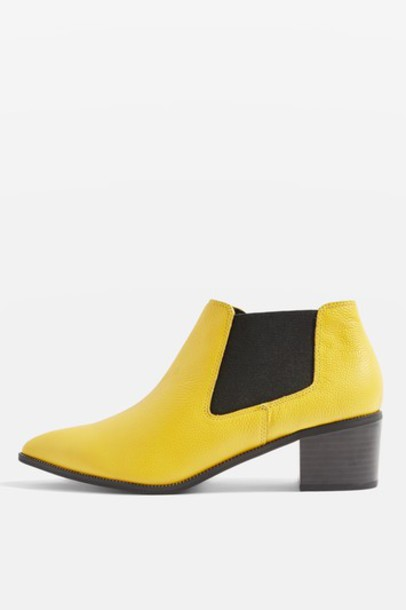 Topshop ankle boots yellow shoes