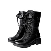 shoes,boot,lace up,zip,black