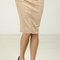 Suede seam detail pencil skirt - taupe