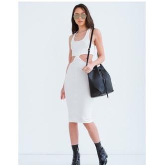 dress white dress black dress white grunge pale boho dress