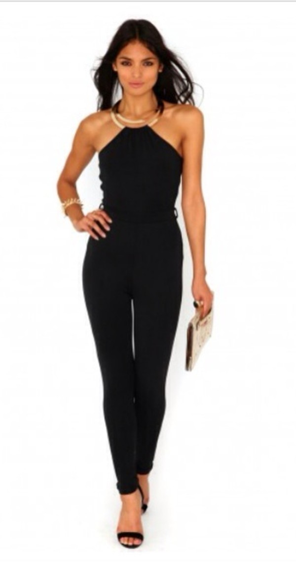 jeans jumpsuit black sexy classy