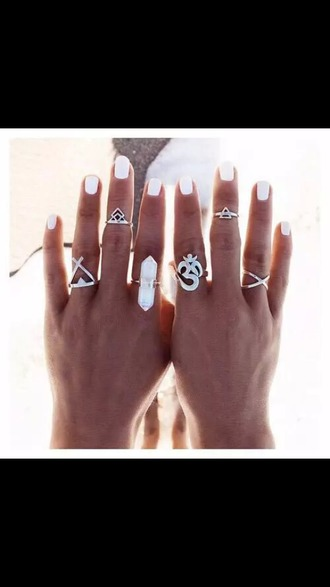 jewels jewelry boho jewelry white ring knuckle ring silver silver ring boho boho chic bohemian