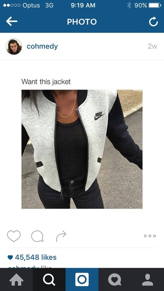 jacket nike nike jacket coat black grey bomber jacket women girly nike sweater cardigan sweater grey jacket varsity jacket logo college jacket baseball jacket baseball sportswear cool girl underwear cute grey black nike sportswear hoodie nike women grey sweater t-shirt vintage nike jacket workout boho zip