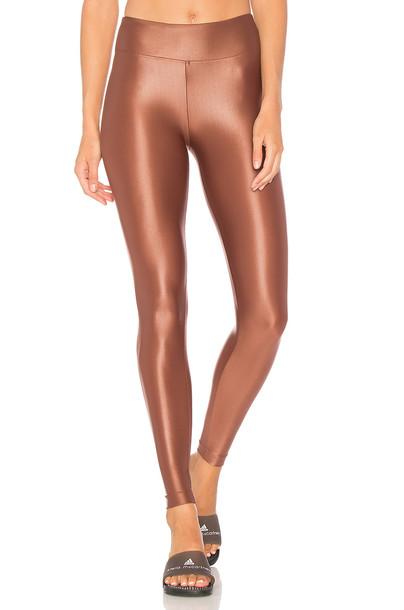 Koral high metallic copper pants