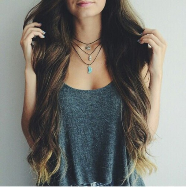 jewels necklace top tank top