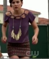 jessica stroup tee shirt cut,90210,jessica stroup,purple t-shirt,jewels,t-shirt