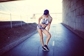 cara loren,blogger,shorts,shoes,hat,nike,cap,sportswear,sports bra,spandex,black sneakers,nike sneakers,workout