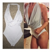 swimwear,fifty shades of grey,plunge v neck,boobs,party,party outfits,t-shirt,jumpsuit,top
