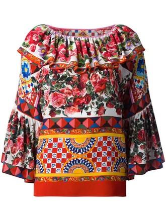 blouse women cotton print silk pink rose top