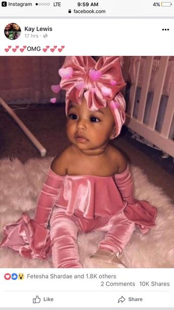 blouse velvet pink baby