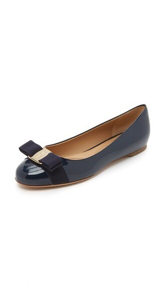flats blue shoes