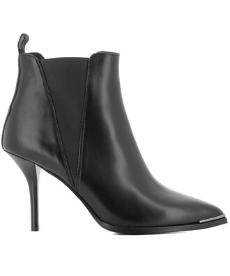 boots ankle boots leather black black leather shoes