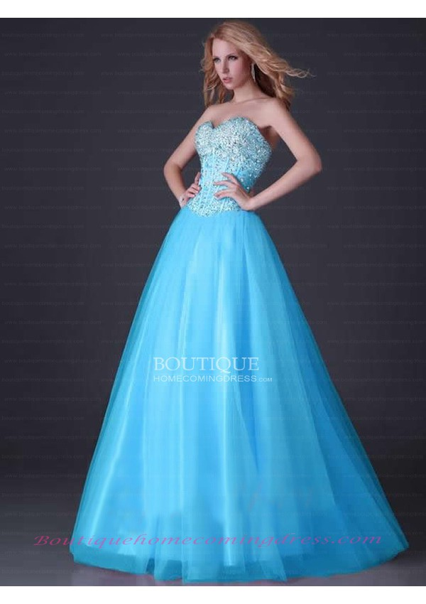 Tulle ball gown sweetheart prom dress