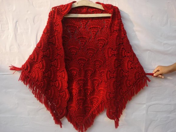 scarf shawl red shawl