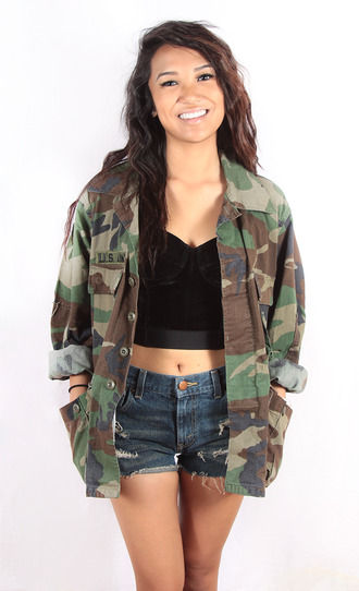 jacket clothes camo camouflage army green jacket