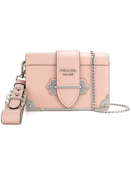 Prada women bag shoulder bag leather purple pink