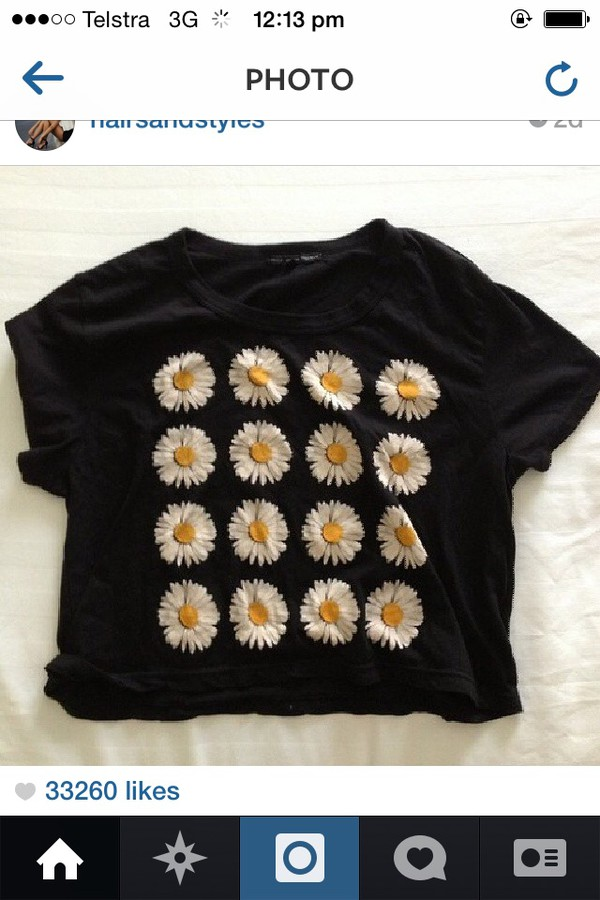 t-shirt yellow flowers instagram