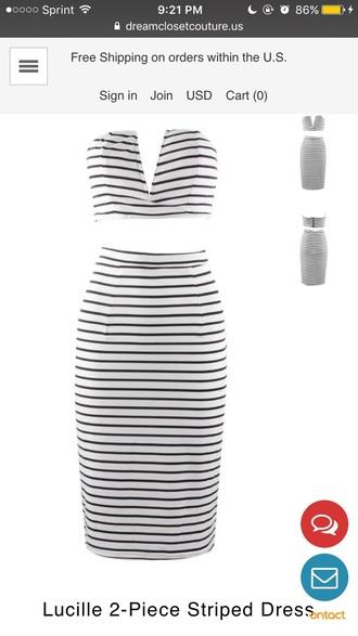 dress two-piece striped dress two piece dress set