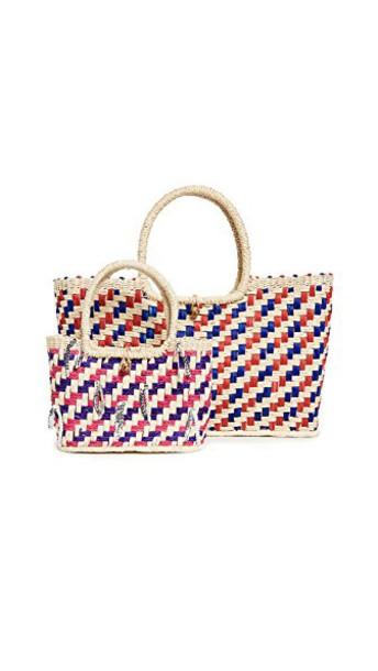 Sensi Studio multicolor blue red bag