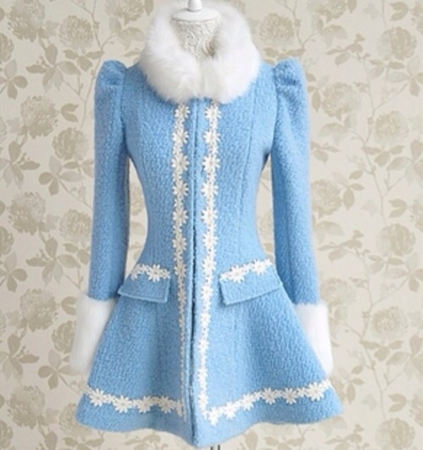 coat blue coat designer vintage vintage fashion fashion old fashioned