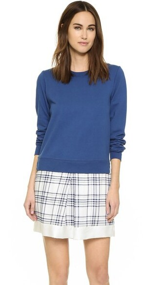 dress sweatshirt dress sea navy blue