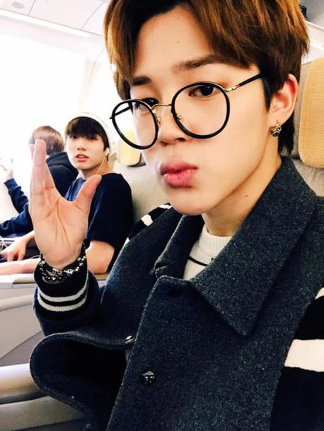 Kpop Glasses Frame : Sunglasses: glasses, kpop, bts, korean fashion, round ...