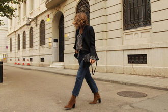 my daily style blogger jacket shirt jeans shoes bag