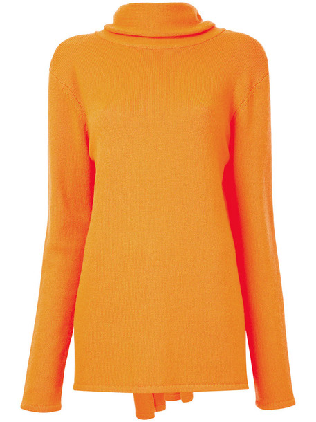 Dion Lee jumper women yellow orange sweater