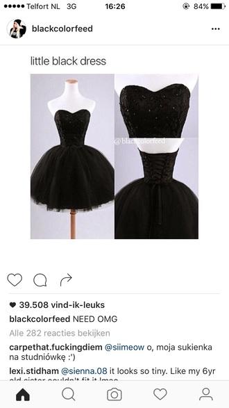 dress black dress black little black dress short dress puffy dress homecoming dress party dress