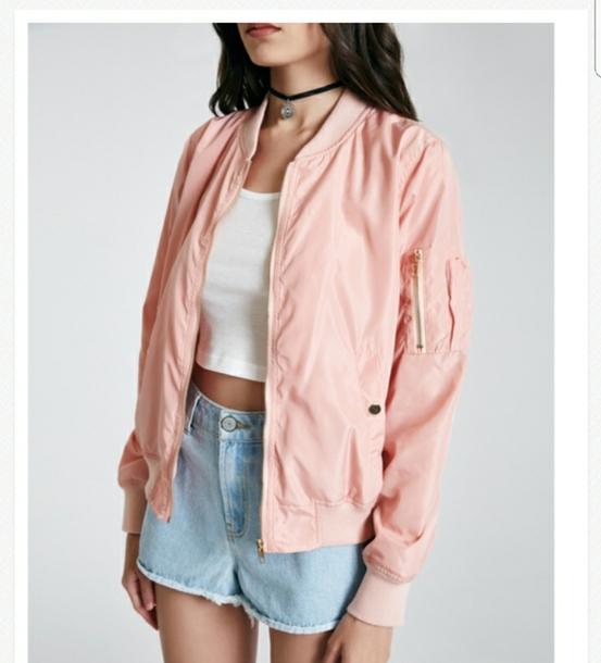 jacket peach bomber jacket