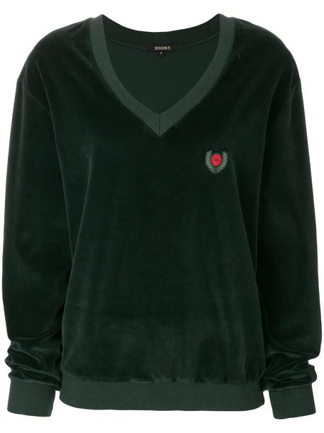 yeezy sweater women cotton velvet green