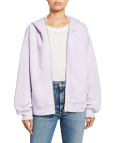 Current/Elliott The Bailer Cotton Oversized Hoodie