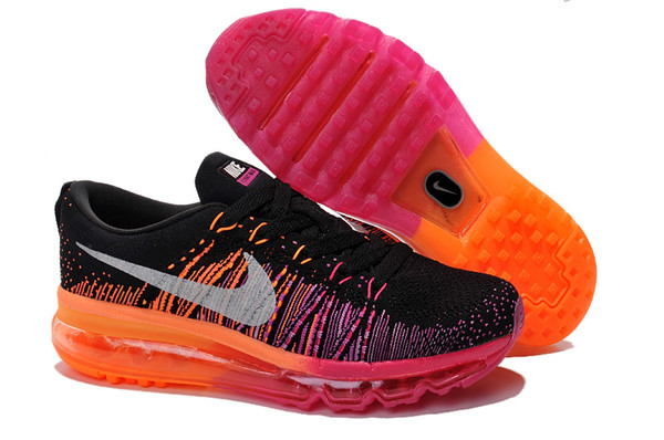 shoes nike flyknit max noir rouge
