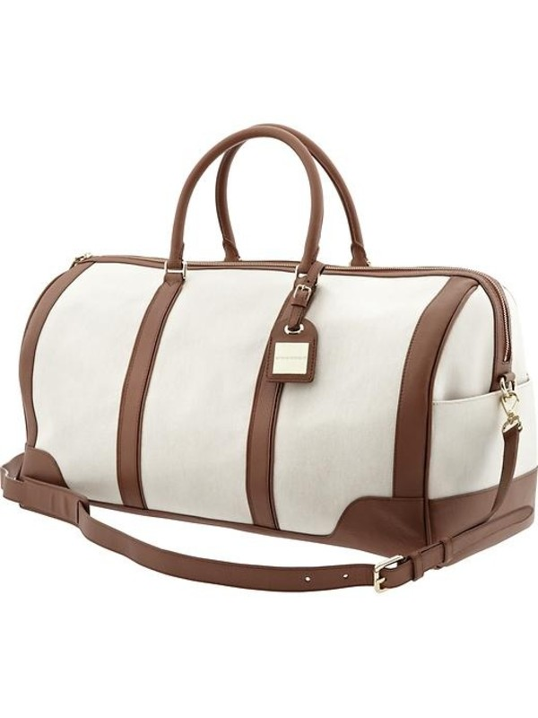 bag brown weekend bag overnight bag big white