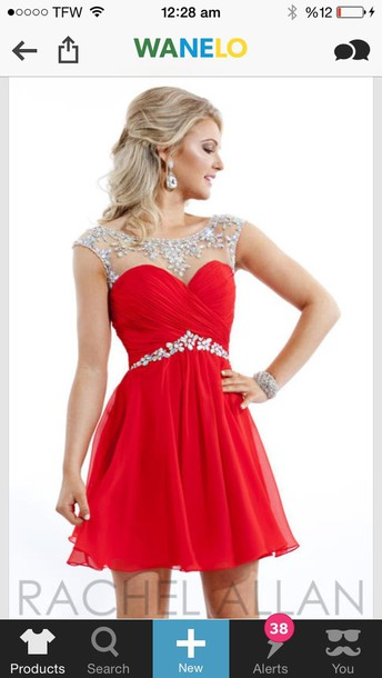 dress red dress red homecoming dance style fashion cute dressy short dress homecoming dress