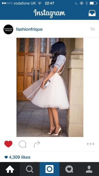 skirt tutu white