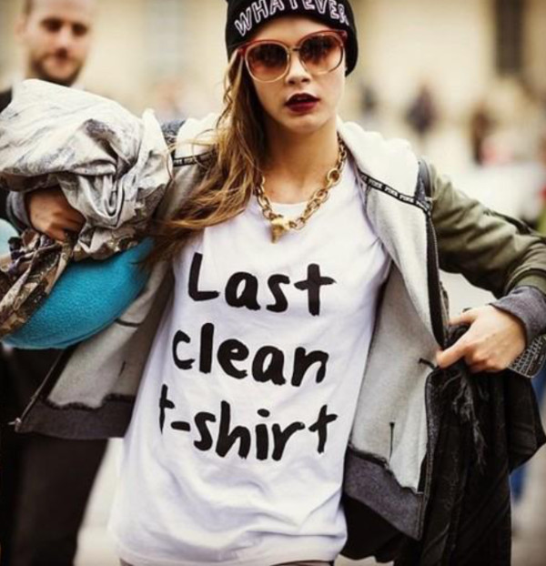 shirt graphic tee white tees casual black and white cara delevingne t-shirt