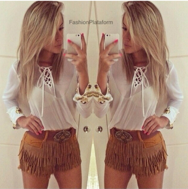 shorts lookbook blouse