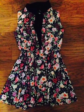 lace dress multi colored floral