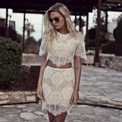 can't live without,dress,trendy,lace dress,lace,set,dress set,lovers + friends,want it bad,skirt,top,tsgirt,t-shirt dress,short party dresses,shorts,style,fashion,prom dress,omg girlz,modena