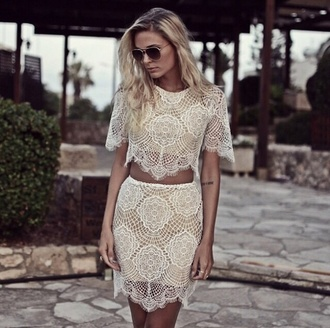 can't live without dress trendy lace dress lace set dress set lovers + friends want it bad skirt top tsgirt t-shirt dress short party dresses shorts style fashion prom dress omg girlz modena