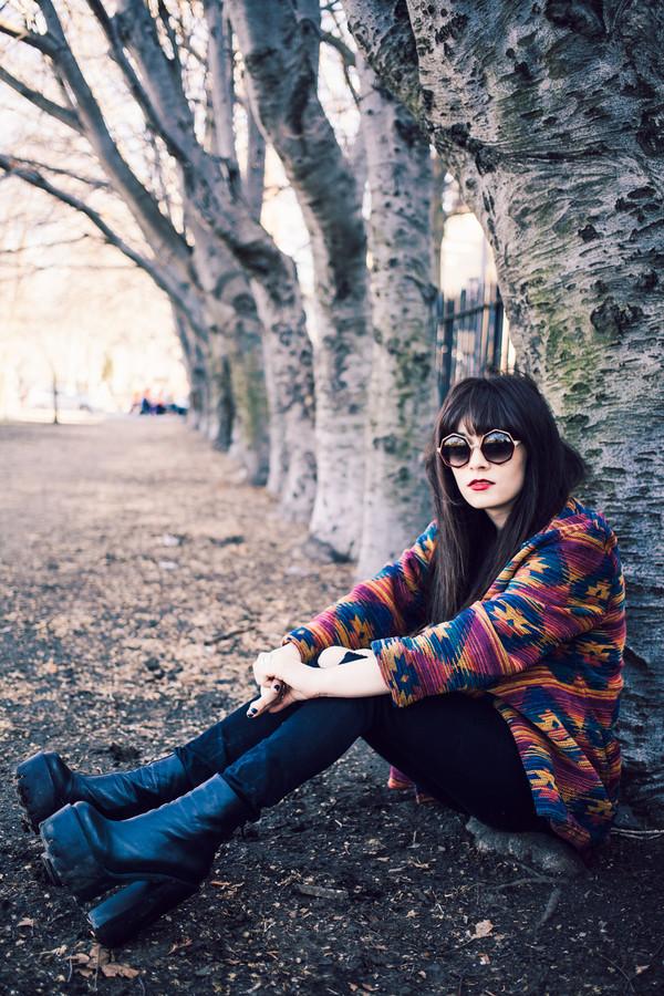 jag lever sunglasses jacket shoes t-shirt jeans