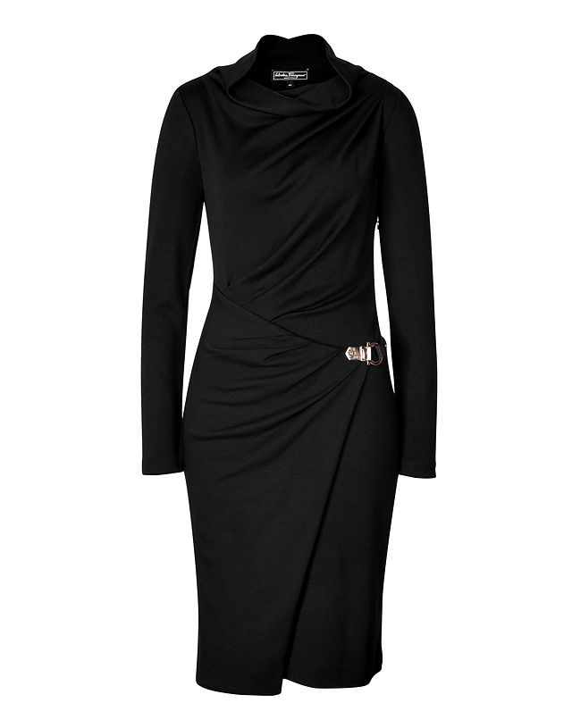 Salvatore Ferragamo - Wool Jersey Wrap Dress