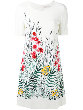 dress print dress women white print