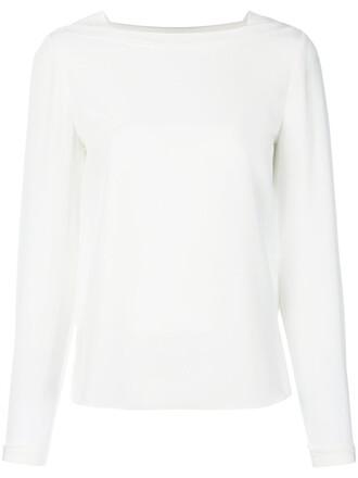 blouse long women white silk top