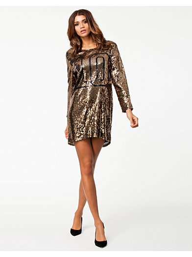 Sporty Deluxe Dress - Nly Trend - Guld/Svart - Festklänningar - Kläder - Kvinna - Nelly.com