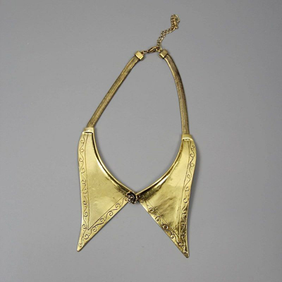 Carving Embellished Necklace [AN0786] - $18.99 :