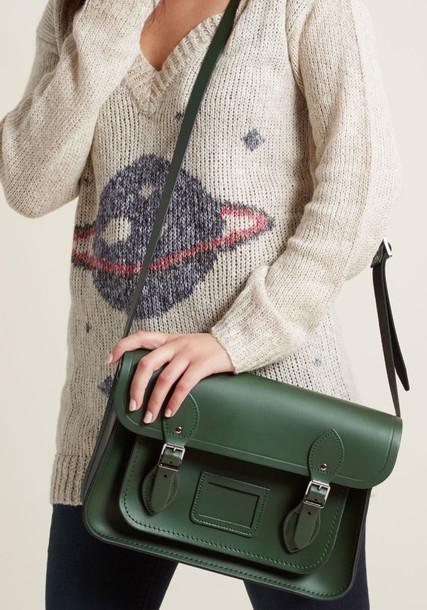 Cambridge Satchel dark bag green